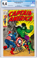 Silver Age (1956-1969):Superhero, Captain America #110 (Marvel, 1969) CGC NM 9.4 White pages....