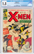 Silver Age (1956-1969):Superhero, X-Men #1 (Marvel, 1963) CGC FR/GD 1.5 Off-white to white pages....