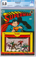Superman #22 (DC, 1943) CGC VG/FN 5.0 Cream to off-white pages