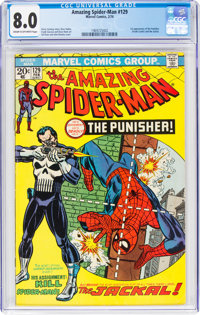 The Amazing Spider-Man #129 (Marvel, 1974) CGC VF 8.0 Cream to off-white pages
