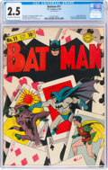 Golden Age (1938-1955):Superhero, Batman #11 (DC, 1942) CGC GD+ 2.5 Off-white to white pages....