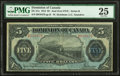 Canadian Currency, Canada Dominion of Canada $5 1.5.1912 DC-21e PM...