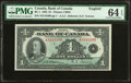 Canadian Currency, Canada Bank of Canada $1 1935 - English BC-1 PM...