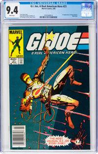 G. I. Joe, A Real American Hero #21 (Marvel, 1984) CGC NM 9.4 White pages