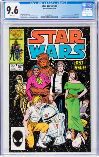 Star Wars #107 (Marvel, 1986) CGC NM+ 9.6 White pages