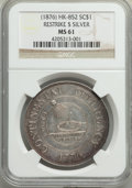 So-Called Dollars, (1876) Restrike Dollar, Silver, MS61 NGC. Kenney-2, HK-852, W-15640, R.7....