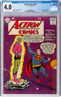 Silver Age (1956-1969):Superhero, Action Comics #242 (DC, 1958) CGC VG 4.0 Off-white pages....