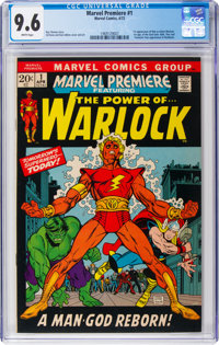 Marvel Premiere #1 Warlock (Marvel, 1972) CGC NM+ 9.6 White pages