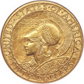 Commemorative Gold, 1915-S $50 Panama-Pacific 50 Dollar Round MS65 NGC. CAC....