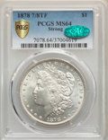 1878 7/8TF $1 Strong MS64 PCGS. CAC. PCGS Population: (1806/399). NGC Census: (1122/102). CDN: $360 Whsle. Bid for probl...