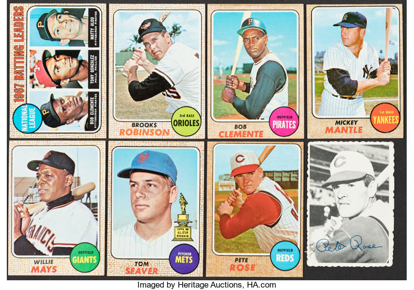1968 To 1969 Topps Baseball Collection With Mantle 8