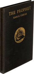 Books:Literature 1900-up, Kahlil Gibran. The Prophet. New York: Alfred A. Knopf, 1923. First edition of one of the best-selling books of t...