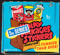 "1973-74 Topps ""Wacky Packages Stickers"" Box With 48 Unopened Packs"