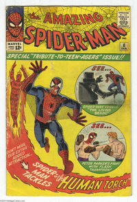 The Amazing Spider-Man #8 (Marvel, 1964) Condition: GD. Steve Ditko cover and art. Spider-Man and Fantastic Four back up...