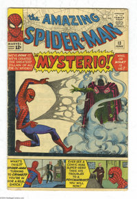The Amazing Spider-Man #13 (Marvel, 1964) Condition: GD/VG. First appearance of Mysterio. Steve Ditko cover and art. Ove...