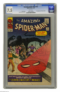 The Amazing Spider-Man #22 (Marvel, 1965) CGC VF- 7.5 White pages. First appearance of Princess Python. Steve Ditko cove...