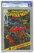 Bronze Age (1970-1979):Superhero, The Amazing Spider-Man #100 (Marvel, 1971) CGC VF/NM 9.0 White pages. Anniversary issue, with a Green Goblin cameo. John Rom...