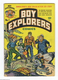 Boy Explorers #1 (Harvey, 1946) Condition: FN+. Simon and Kirby cover and art. First appearance of the Boy Explorers. Ov...