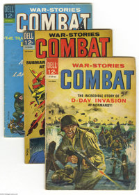 Combat Group (Dell, 1964-73) Condition: Average VG. This group includes #11, 21 (two copies), 22 (extensive handwriting...