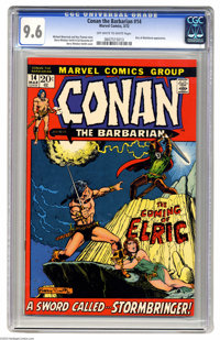 Conan the Barbarian #14 (Marvel, 1972) CGC NM+ 9.6 Off-white to white pages. Elric appearance. Barry Smith cover and art...