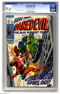 Daredevil #58 (Marvel, 1969) CGC NM+ 9.6 Cream to off-white pages. Gene Colan and Syd Shores art. Overstreet 2004 NM- 9...