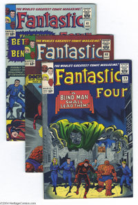 Fantastic Four #39-41 Group (Marvel, 1965) Condition: Average VF. This group consists of three comics: #39 (Wally Wood i...