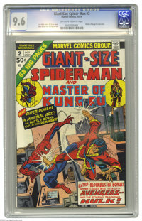 Giant-Size Spider-Man #2 (Marvel, 1974) CGC NM+ 9.6 Off-white to white pages. Master of Kung Fu cross-over. Gil Kane cov...