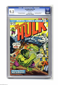 The Incredible Hulk #180 (Marvel, 1974) CGC NM- 9.2 White pages. Wolverine last-page cameo, his very first appearance. H...
