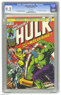 Bronze Age (1970-1979):Superhero, The Incredible Hulk #181 (Marvel, 1974) CGC NM- 9.2 White pages.This is the now-famous issue that features the first full a...