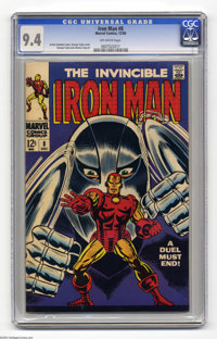 Iron Man #8 (Marvel, 1968) CGC NM 9.4 Off-white pages. George Tuska cover. Tuska and Johnny Craig art. Overstreet 2004 N...
