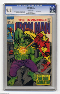 Iron Man #9 (Marvel, 1969) CGC NM- 9.2 Off-white pages. Iron Man battles an android disguised as the Hulk. George Tuska...