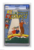 """Platinum Age (1897-1937):Miscellaneous, Popular Comics #8 (Dell, 1936) CGC VG+ 4.5 Off-white pages.Features """"Believe It Or Not,"""" Dick Tracy, Gasoline Alley, Major ..."""