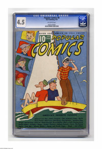 """Popular Comics #8 (Dell, 1936) CGC VG+ 4.5 Off-white pages. Features """"Believe It Or Not,"""" Dick Tracy, Gasoline..."""