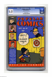 Popular Comics #20 (Dell, 1937) CGC FN 6.0 Off-white pages. Features Dick Tracy, Skippy, Terry and the Pirates, Harold T...