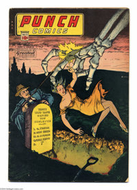 Punch Comics #13 (Chesler, 1945) Condition: VG-. Features Rocketman, Master Key, Johnny On the Spot. Overstreet 2004 VG...