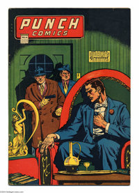 Punch Comics #14 (Chesler, 1945) Condition: VG/FN. Features Master Key, Rocketman, Gay Caballero. Overstreet 2004 VG 4.0...