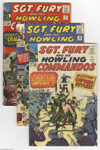 Sgt. Fury and His Howling Commandos Group (Marvel, 1964-68) Condition: Average VG. This lot consists of issues #9, 10, 1...