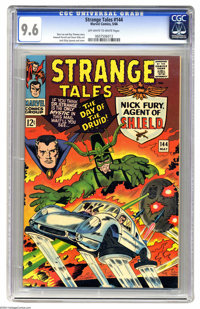 Strange Tales #144 (Marvel, 1966) CGC NM+ 9.6 Off-white to white pages. Jack Kirby layouts and cover. Steve Ditko and Ho...