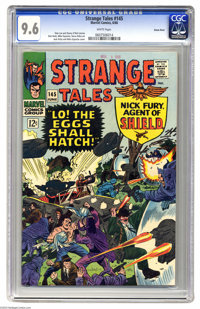 Strange Tales #145 Green River pedigree (Marvel, 1966) CGC NM+ 9.6 White pages. Jack Kirby and Mike Esposito cover. Stev...