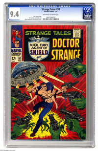 Strange Tales #153 (Marvel, 1967) CGC NM 9.4 Off-white to white pages. Jim Steranko cover. Steranko, Jack Kirby, and Mar...