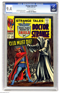 Strange Tales #154 (Marvel, 1967) CGC NM 9.4 Off-white to white pages. Marie Severin cover. Severin and Jim Steranko art...