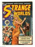 Golden Age (1938-1955):Science Fiction, Strange Worlds #4 (Avon, 1951) Condition: VG+. Wally Wood cover.Wood and Joe Orlando art. Overstreet 2004 VG 4.0 value = $2...