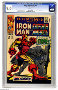 Tales of Suspense #95 (Marvel, 1967) CGC VF/NM 9.0 White pages. Nick Fury appearance. Captain America's identity reveale...