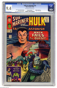 """Tales to Astonish #74 (Marvel, 1965) CGC NM 9.4 Off-white to white pages. Watcher appearance. """"Death"""" of the L..."""