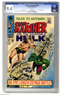 Tales to Astonish #100 (Marvel, 1968) CGC NM 9.4 White pages. The Hulk battles the Sub-Mariner full-length story. Overst...