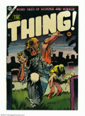 Golden Age (1938-1955):Horror, The Thing! #16 (Charlton, 1954) Condition: VF-. Injury to eyepanel. Overstreet 2004 VF 8.0 value = $175....