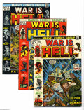 Bronze Age (1970-1979):War, War Is Hell Group (Marvel, 1973-75) Condition: Average VF/NM. This group includes #1, 2, 3, 6, 7, 10, 11, 12, 13, and 15. Ap... (Total: 10 Comic Books Item)