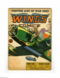 Golden Age (1938-1955):War, Wings Comics #33 (Fiction House, 1943) Condition: VG. Gene Fawcettecover. Overstreet 2004 VG 4.0 value = $68....