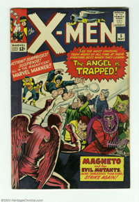 X-Men #5 (Marvel, 1964) Condition: FN+. Third appearance of Magneto. Second appearances of the Scarlet Witch, the Toad...