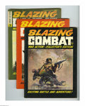 Magazines:Miscellaneous, Blazing Combat #1-4 Group (Warren, 1965-66) Condition: Average FN+. This is the full run of Warren's short-lived war mag, #1... (Total: 4 Comic Books Item)